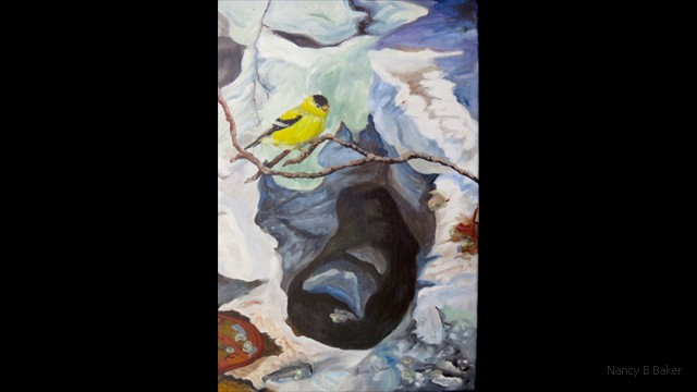 Goldfinch over Potholes 13x18